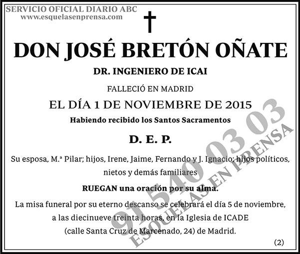 José Bretón Oñate